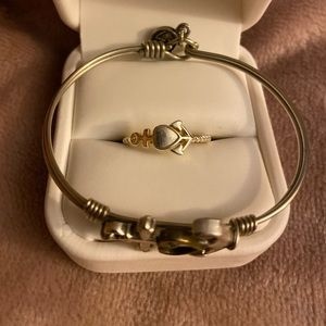 Luca and Danni anchor bracelet and ring set